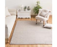 Tapis à poils courts en laine beige 250 x 350 cm SOFT