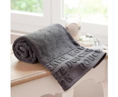 Serviette de bain en coton grise 50x100 MODERN