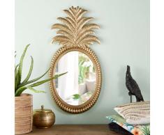 Miroir ananas en métal doré 43x85
