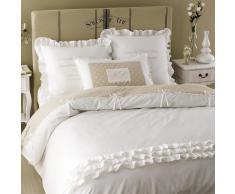 Parure de lit en coton blanche 240 x 260 cm SANS SOUCI