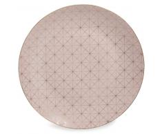 Assiette plate en porcelaine rose D 27 cm OPALE