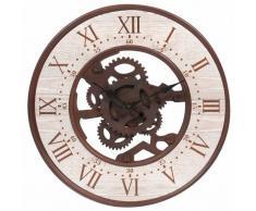 Horloge en métal effet rouille D 39 cm SEATTLE