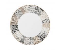 Assiette à dessert en porcelaine à motifs