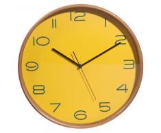 Horloge en bois jaune D 32 cm CAMDEN