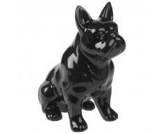 Statuette chien en céramique noire H17