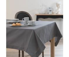 Nappe unie en coton anthracite 150 x 250 cm