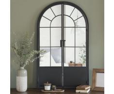 Miroir en métal noir mat 65x110