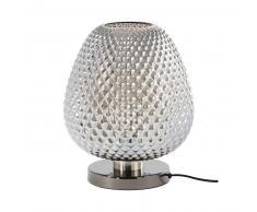 Lampe en métal et verre