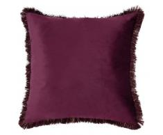 Coussin prune 50x50