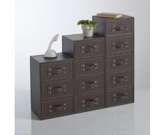 Chiffonnier 3 tiroirs, imitation cuir, Rockford - La Redoute Interieurs