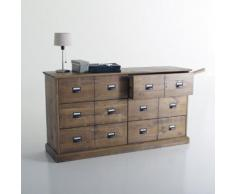 Commode, pin massif, 6 tiroirs, Lindley