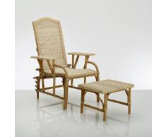 Chaise longue + repose-pieds rotin, KOK,Nantucket - KOK