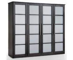 Armoire 4 portes, dressing, pin, H180 cm, Bolton