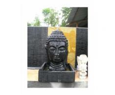 Fontaine de jardin tête de Bouddha 1 m 30 noir - WANDA-COLLECTION