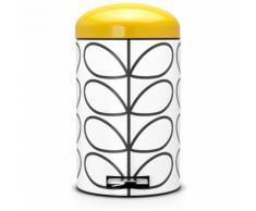 Brabantia Poubelle a pédale Retro bin 'Silent', 12 litres - Orla Kiely Cream