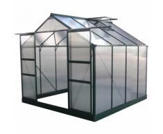 "Serre jardin polycarbonate ""Dahlia"" Vert Sapin 6,15 m² - HABITAT ET JARDIN"