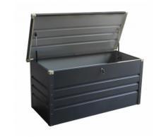Coffre de rangement en métal anthracite 650L avec plancher X-METAL