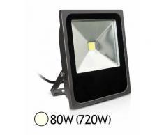 Projecteur ext COB LED 80W (720W) IP65 Finition Gris Blanc jour 4000°K - VISION-EL