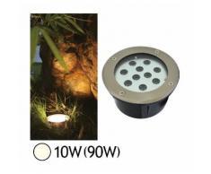 Spot encastré sol LED COB 10W (90W) IP67 Blanc neutre 4500°K Rond - VISION-EL