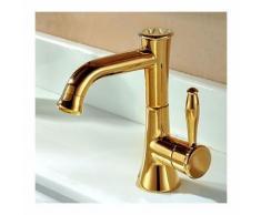 Robinet salle de bain style rustique muni d'un mitigeur. finition en laiton (Ti-PVD) - LOOKSHOP