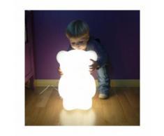Lampe à poser enfant Ourson Junior - Blanc - SLIDE DESIGN