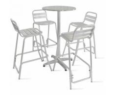 Table de jardin haute en aluminium et 4 tabourets - BOUTIQUE JARDIN