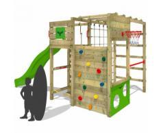 FATMOOSE Portique d'escalade FitFrame Fresh XXL Aire de jeux pour le jardin avec toboggan