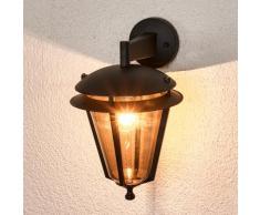 Applique d'extérieur Doron alu gris matériau synthétique lanterne - LAMPENWELT