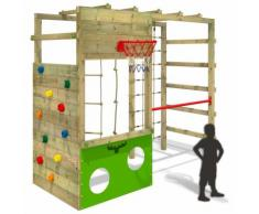 FATMOOSE Aire de jeux CleverClimber Club XXL Portique de jeux en bois Tour de'escalade