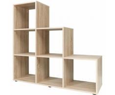 Etagère escalier 6 cases (Type 10) 105x 32x106cm Design moderne - chêne - CSSCHMAL