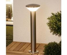 Borne lumineuse LED Tiga structure inox abat-jour polycarbonate LED - LAMPENWELT
