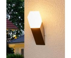 Applique d'extérieur LED Barbara carrée inox torche LED - LAMPENWELT