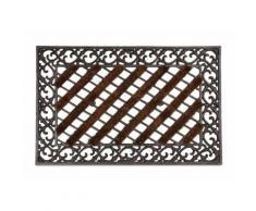 Paillasson tapis porte d'entrée essuie-pieds fonte 72 x 46 cm - HELLOSHOP26