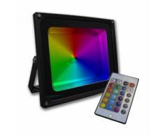 Projecteur led graphite 50W RGB multicolore - ARUM LIGHTING