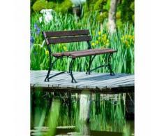 Banc de jardin en bois couleur noyer et aluminium 150cm - COOK
