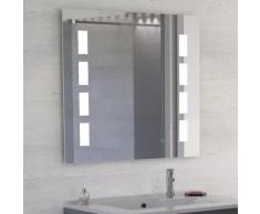 Miroir anti-buée MOSAIC 90x80 cm - éclairage intégré à LED et interrupteur sensitif