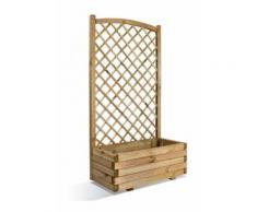 Jardinière lierre rectangulaire en bois avec treillage en arc 80 - BURGER JARDIPOLYS