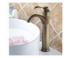 Mitigeur de vasque et lavabo en laiton finition bronze antique - PALICI