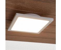 Plafonnier LED Mabella gris argenté extérieur lampe d'extérieur plafond LED - LAMPENWELT