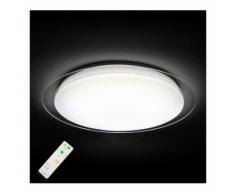 Plafonnier LED Mikis matériau synthétique télécommande couleur lumière variable - LAMPENWELT