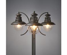 Lampe pour l'extérieur Eddie Rustique 3 l. Lampadaire Candélabre Eclairage ext. - LAMPENWELT