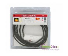 Tresse ronde fibre de de verre Ø6mm L2,5m pour étanchéité cheminée - DELTA