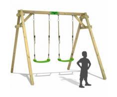 FATMOOSE Balançoire JollyJim Air XXL portique pour enfants avec 2 sièges de balançoire