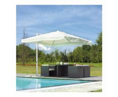 Parasol déporté carré coloris blanc 3 x 3 m - A USAGE PROFESSIONNEL - PEGANE
