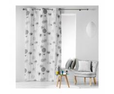 Rideau en Coton Design à Imprimés Pissenlits Gris 140 x 240 cm - HOMEMAISON