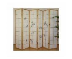Paravent 6 panneaux japonais en bois 264x175 cm - DéCOSHOP26