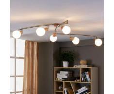 Plafonnier aspect bois Svenka E14 LED Cuisine Salon Eclairage - LAMPENWELT