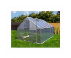Serre de jardin 7.75 m² en aluminium avec porte et une fenêtre d'aération - 250x310 cm -