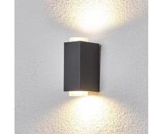 Applique Jovan pour l'extérieur gris foncé lampe d'extérieur carrée - LAMPENWELT
