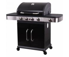Barbecue au gaz TENNESSEE - 4+1 brûleurs avec thermomètre - ALLSTORE